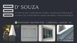 Vistas de concreto para portas e janelas
