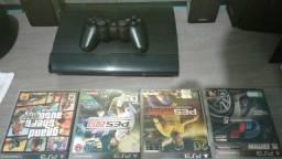 PlayStation 3 , slim 250 giga, valor 600 reais
