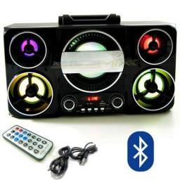 Caixa De Som Com Bluetooth Controle Amplificada Fm, Usb, Sd