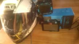 Capacete + som kraken-s + GPS 4 RODAS