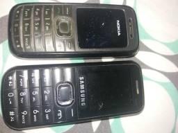 2 celulares lanterninha com defeito