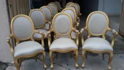 Poltranas e cadeiras medalhão