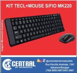 Kit Teclado Mouse Sem Fio Logitech Mk220