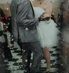 Vestidos de noiva, curto para dança