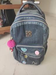 Mochila carrinho jeans Rebeca Bombom