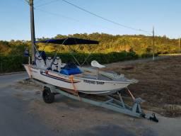 Barco Lancha Alumínio Pantanaltica Marcury 50HP