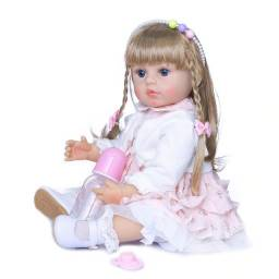 Bebê Boneca Reborn NPK Venessa 100% silicone 55 cm