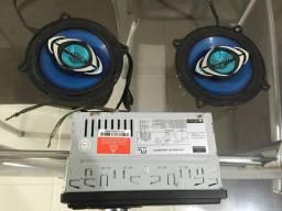Auto-Falantes e Rádio (sem bluetooth)