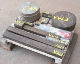 Material Aços Ferramenta VW3/ S1 e H13/ SAE H13, Lote com 59 Kg