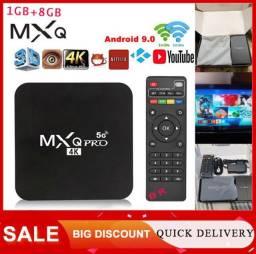 Tv box sem mensalidade MXQ 4K