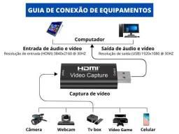 mini placa captura vídeo hdmi p/usb 44mm Hd p/jogos lives etc nv.na cx.aceito cartão-pix