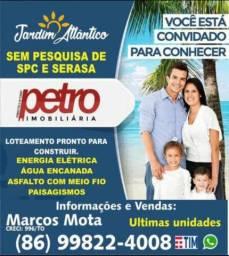 Vendo lotes no Jardim Atlântico 1, 2 e 3 em Parnaíba Piauí