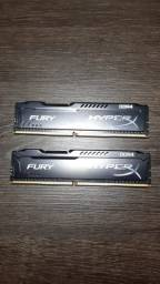 Memória RAM HyperX Fury 8gb (2x4)