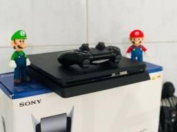 Título do anúncio: PlayStation 4 Slim 500Gb e 1Tb + 4 jogos e 90 dias de garantia