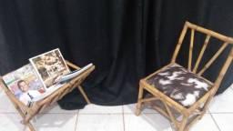 Título do anúncio: Cesta revista e cadeira manicure