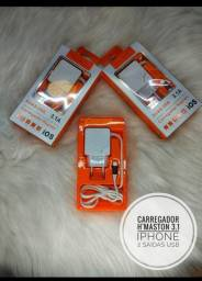 Carregador celula rápido Iphone 3.1A Hmaston