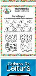 Atividades de alfabetização para reforço escolar para crianças de 1 a 8 anos de idade.