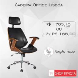 Cadeira Giratória Office Lisboa / Revestimento PU / Nova / NFE