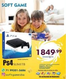 Título do anúncio: PS4 Slim 1TB HD aceito cartão com garantia loja física