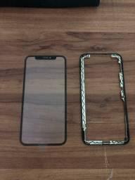 Vidro frontal iPhone X com aro