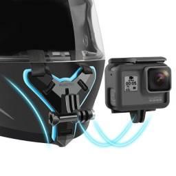 Título do anúncio: Suporte Frontal para Capacete - GoPro, DJI Action, SJcam e demais câmeras esportivas