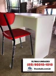 Mesa e cadeira Kit home office *