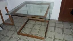 Título do anúncio: Mesa de canto tampo de vidro de 5 milímetros  0.90 x 0.90