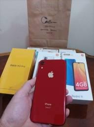 Título do anúncio: iPhone XR 128GB (Product) Red de Vitrine Lindo