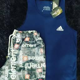 Regata + shorts R$85,00