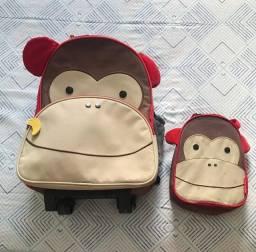 Mochila + lancheira Skiphop macaco