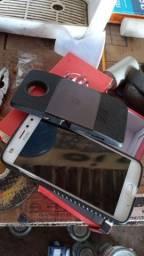 Moto z2 play com a tela quebrada + snap projetor