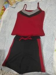 Conjuntos de shorte e blusas