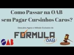 Quer passar no exame da OAB ?