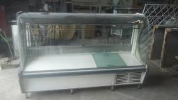 Balcão expositor frigorífico para açougue 2m gelopar usada