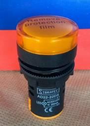 Sinaleiro Led AD22-Y2 22mm Amarelo 24Vcc/Vca
