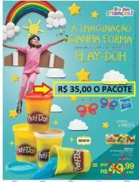 Massinhas Play-Doh 4 Potes Kit fechado