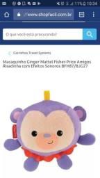 Macaco fisher price que da risadinha