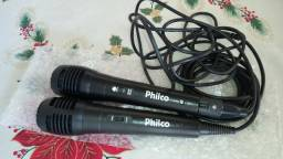 Microfones Karaokê Philco Plug P10