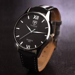 Relógio Masculino Yazole Quartz Pulseira De Couro