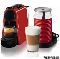 Cafeteira nespresso essenza mini + vaporizador
