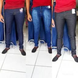 Calça jeans é bermuda masculina Etc