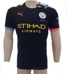 Camisa Puma Manchester City preta tam: p m g ou gg
