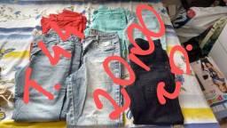 Bazar de mulher T. 44 calças e Vestidos G e GG