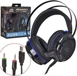 Headset Fone Gamer Gamer 7.1 Com Fio Kp-417