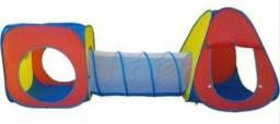 Toca túnel infantil 3x1 +50bolinhas de brinde