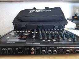 Mesa Tascam DP 02 + Microfone Condensador