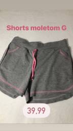 Shorts moletom feminino