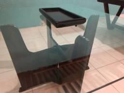 Mesa colonial com bandeja fixa ou removível
