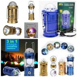 Lampiao lanterna led recarregavel abajur luminária