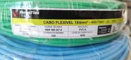 Título do anúncio: Cabo Elétrico Flexivel 4mm - 100 metros